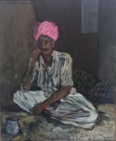 Mann mit rosa Turban