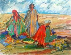 Markt in der Wüste