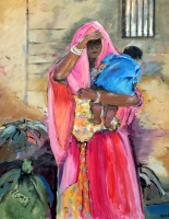 Junge Mutter in Rajasthan