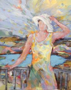 Regina Lord; Sommertag, Acryl auf Leinwand, 100 x 80 cm